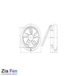 هواکش های لوله ای خانگی دریچه دار خزرفن مدل EF